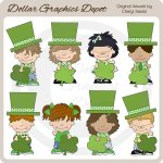 Little Leprechaun Kids - Clip Art