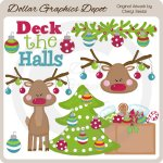Deck The Halls 1 - Clip Art