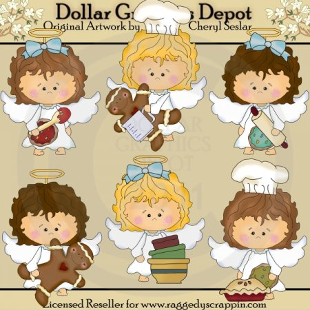 Baking Angels - Clip Art