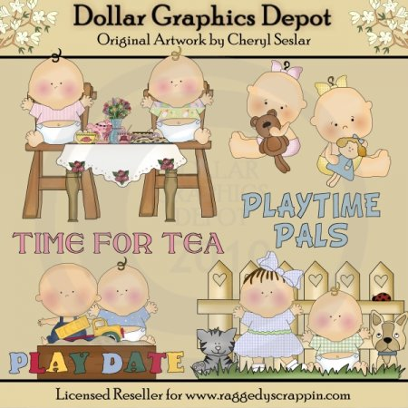 Playtime Pals - Clip Art - *DGD Exclusive*