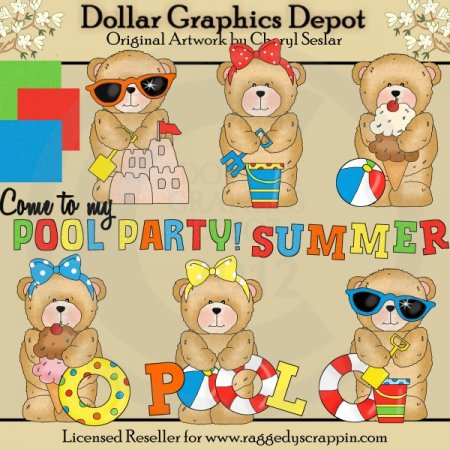Chubby Cubby - Summertime Fun - Clip Art