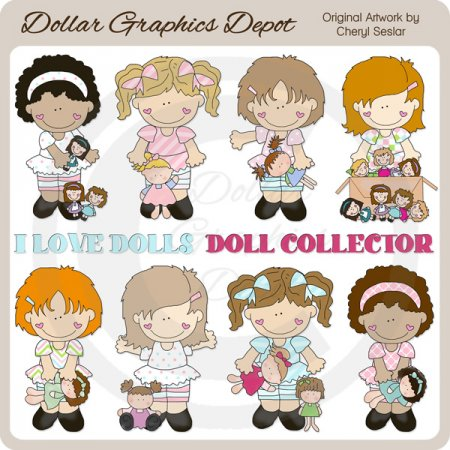 Dolly Girls - Clip Art - *DGD Exclusive*