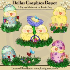 Easter Chicks - Clip Art