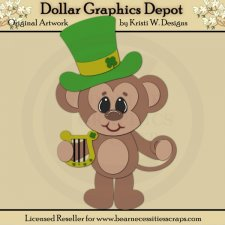 Irish Monkey 1 - Cutting Files / Paper Piecing - *DGD Exclusive*