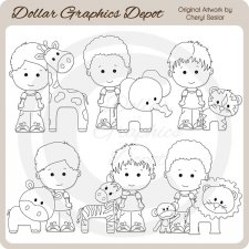 Linus and Pals - At The Zoo - Digital Stamps