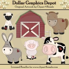 Stitched Farm Animals - *DGD Exclusive*