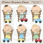 High Chair Toddler Boys - Clip Art - *DGD Exclusive*