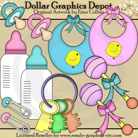 Baby Accessories - Clip Art