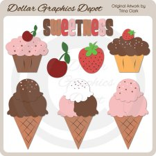 Cakes and Cones - Clip Art