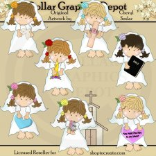 Barefoot Brides - Christian Love - Clip Art