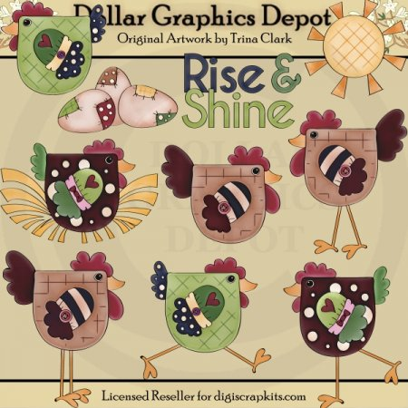 Rise and Shine 1 - Clip Art
