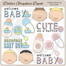 Baby Faces - Clip Art