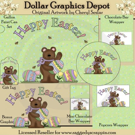 Easter Bear Wrapper Set - Printables