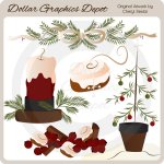 Country Christmas 1 - Clip Art