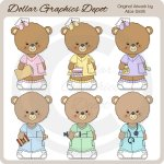 Occupation Bears - Nurses - Clip Art - *DGD Exclusive*