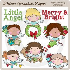 Christmas Angel Peekers - Clip Art - *DCS Exclusive*