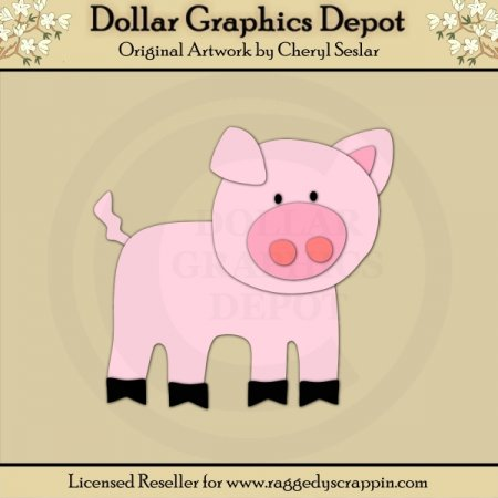 Farm 2 - Pig - Cutting Files / Paper Piecing Patterns
