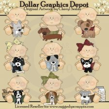 Baby's First Puppy - Clip Art - * DGD Exclusive*