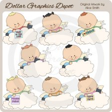 Angel Clouds - Clip Art - *DGD Exclusive*
