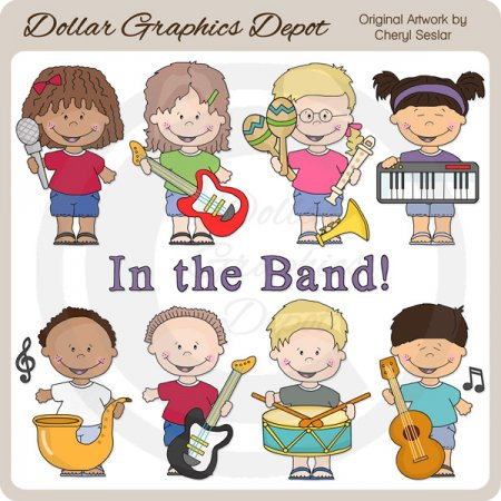 Band Kids - Clip Art
