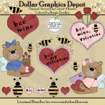 Bee Mine Valentine - Clip Art
