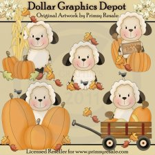 Fall Sheep - Clip Art