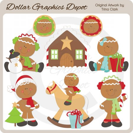 Christmas Gingers 1 - Clip Art