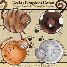 Cat Kitten Clip Art Dollar Graphics Depot Quality