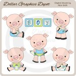 Baby Boy Piggies - Clip Art