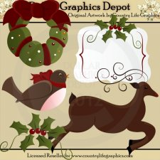 Christmas Holly - Clip Art