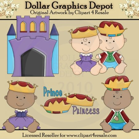 Prince and Princess Babies - Clip Art - *DGD Exclusive*