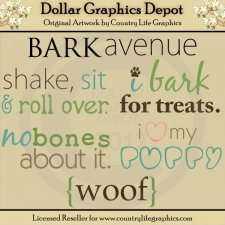 Dog Word Art