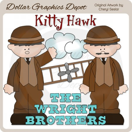The Wright Brothers - Clip Art