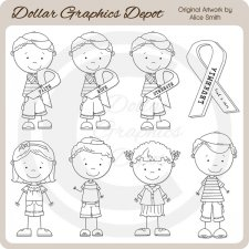 Leukemia Awareness Team Brandon - Digital Stamps *DCS Exclusive*