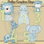 Jungle Baby Boy Numbers - Clip Art