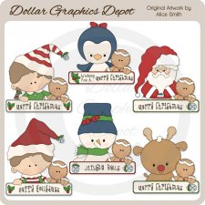 Christmas Greeting Pals - Clip Art - *DCS Exclusive*