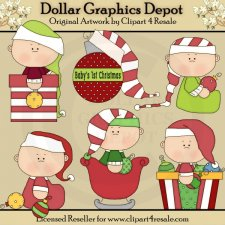 Baby Christmas Ornaments - Clip Art