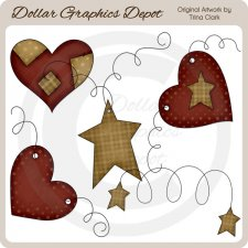 Hearts and Stars - Clip Art