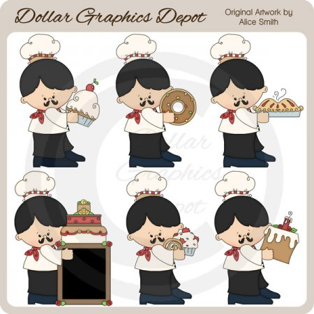 Pierre The Baker - Clip Art - *DCS Exclusive*