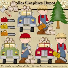 Little Mites Loggers - Clip Art