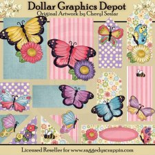Pretty Butterfly - Scrappin Delights