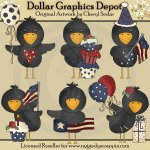 Americana Crows - Clip Art