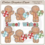 The Gingerbreads - Sweet Wishes - Clip Art