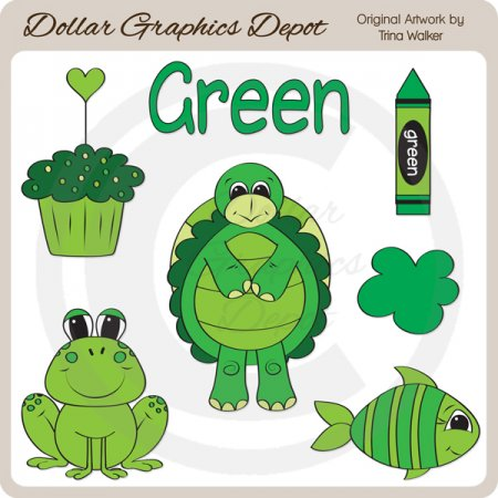 Colors - Green - Clip Art