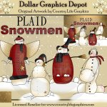 Plaid Snowmen
