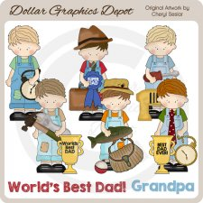 Father's Day Boys - Clip Art - *DCS Exclusive*