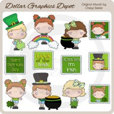 Little Bits - St. Patrick's Day - Clip Art
