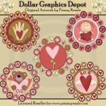 Valentine Penny Rugs - Clip Art