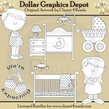 We Are Expecting - Digital Stamps - *DGD Exclusive*