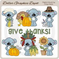 Koala Cuties - Give Thanks - Clip Art